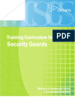 Security Guard Curriculum