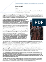 Libya and R2P - What Now?