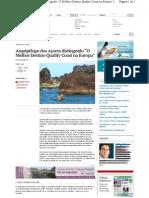 Www.jornalacores9.Net Atualidade Arquipelago Dos Acores Distinguido o Melhor Destino Quality Coast Na Europa