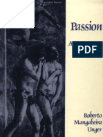 Passion (an Essay on Personality) - Roberto Mangabeira Unger