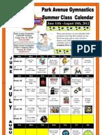 Class Calendar of FUN