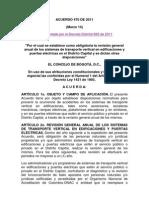 Acuerdo 470 de 2011
