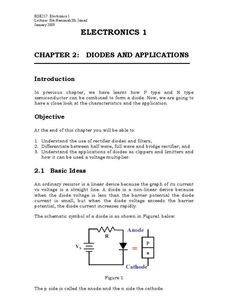 Elect Chap 2 Latest Rectifier Diode Voltage Multiplier With Diodes And Capacitors