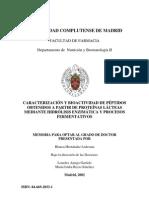 CARACTERIZACIÓN Y BIOACTIVIDAD DE PÉPTIDOS