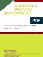 Controle social e participação na gestão pública