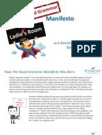 The Good Grammar Manifesto