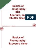 Basics of Photography Part I