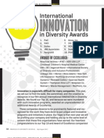 Diversity Journal 2012 Innovation Awards