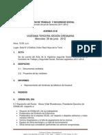 Agenda 23-B  (20-06-2012) Comisión de Trabajo y Seguridad Social