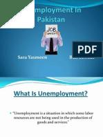 Unemployment in Pakistan