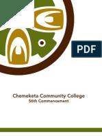 Chemeketa Community College 2012 graduation ceremony program