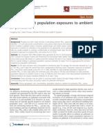 U.S. Census Unit Population Exposures to Ambient