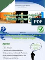 El Programa de Mejora de La Calidad de Florida Power and Light