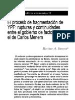 YPF Fragmentacion IADE