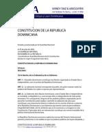 Constitucion de la Republica Dominicana