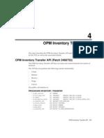 OPM Inventory Transfer API