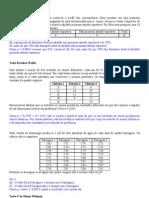 Exercícios Estatística Não paramétrica com respostas