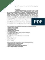 2012 lista economías alternatvas