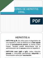 Marcadores de Hepatitis Viral