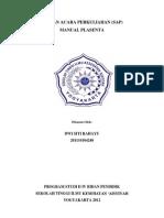 SAP Manual Plasenta