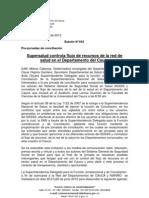Boletín 043_Supersalud controla flujo de recursos de la red de salud en el Departamento del Cauca