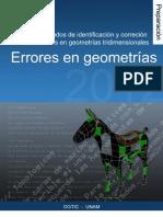 Metodos de identificacion y correccion de errores en geometrias tridimensionales