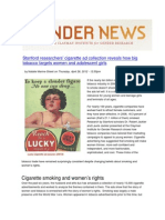 Stanford researchers' cigarette ad collection reveals how big tobacco targets young women and girls
