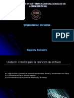 Clase II de Organizacion de Datos