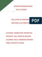 ROLLY ANDRADE, Marketing Operativo
