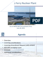 6 18 12 Meeting Slides - Slides for Meeting With Tennessee Valley Authority Regarding AREVA XM Fuel Transition Request for Browns Ferry Nuclear Plant, Units 1, 2, And 3, Use of AREVA XM Fuel.