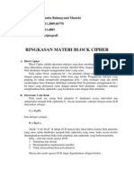 Ringkasan Materi Block Cipher