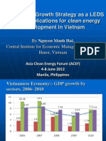 Nguyen Manh Hai - Draft Green Growth Strategy as a LEDS and Its Implications for Clean Energy Development in Vietnam