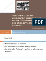 Sitanon Jesdapipat - Thailand's Economic Development Experience and Future LEDS