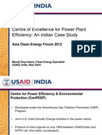 Monali Zeya Hazra - Centre of Excellence for Power Plant Efficiency an Indian Case Study