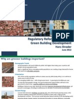 Hans Schrader - Regulatory Reform to Promote Green Building Development