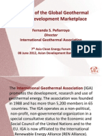 Fernando Sanchez Penarroyo - Overview of the Global Geothermal Energy Development Marketplace