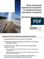 Mike Crosetti - Policy, Financing and Institutional Innovations for Geothermal Energy Generation in Indonesia