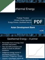 Pradeep Tharakan - Geothermal Energy
