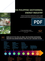 Richard Tantoco - The Philippine Geothermal Energy Industry