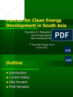 Priyantha Wijayatunga - Policies for Clean Energy Development in South Asia