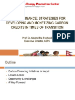Govind Pokharel - Carbon Finance Strategies for Developing and Monetizing Carbon Credits in Times of Transition