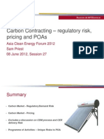 Sam Priest - Carbon Contracting – regulatory risk, pricing and POAs