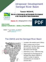 Tamsir Ndiaye - Hydropower Development in the Senegal River Basin