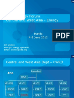 Jim Liston - Central and West Asia - Energy