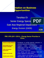 Teruhisa Oi - Presentation on Business Opportunities East Asia