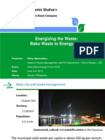 Oktay Mammadov - Energizing the Waste Baku Waste to Energy Plan