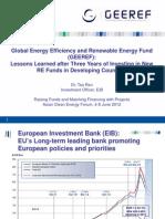 Ren Tao - Global Energy Efficiency and Renewable Energy Fund