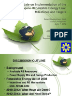 Jose Layug - Update on Implementation of the Philippines Renewable Energy Law