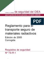 Normas Para El Transporte Seguro de Materiales Radiactivos OIEA