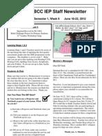 BCC IEP Staff Newsletter Week 6